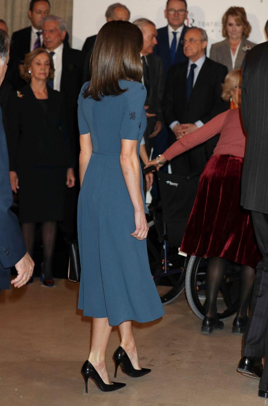 La reine Letizia d'Espagne à Madrid, le 7 février 2019