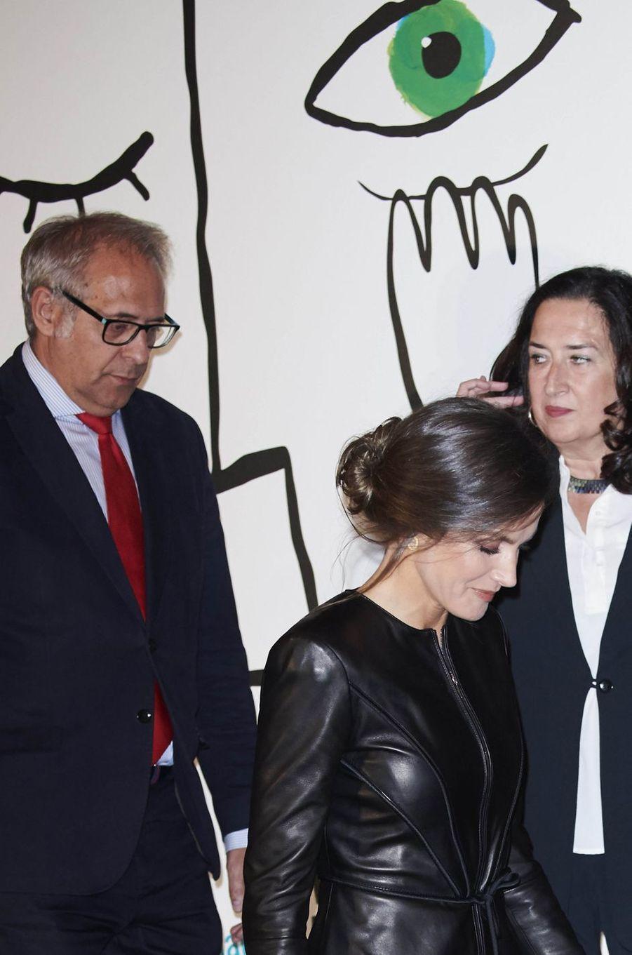La reine Letizia d'Espagne à Valladolid, le 26 octobre 2018
