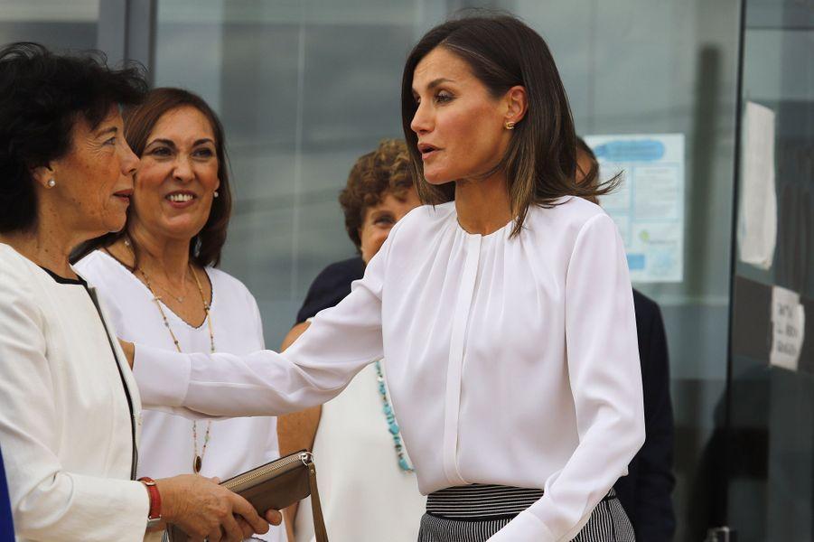 La reine Letizia d'Espagne à Marratxi, le 28 septembre 2018