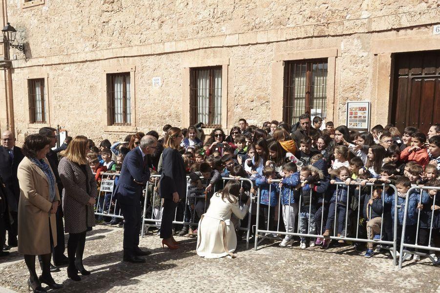 La reine Letizia d'Espagne, le 11 avril 2019 à Lerma