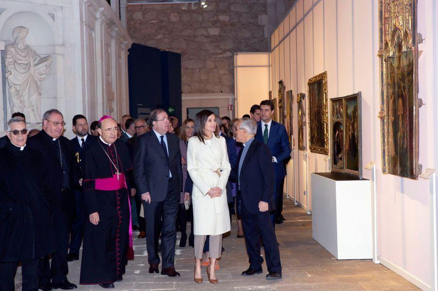 La reine Letizia d'Espagne à Lerma, le 11 avril 2019