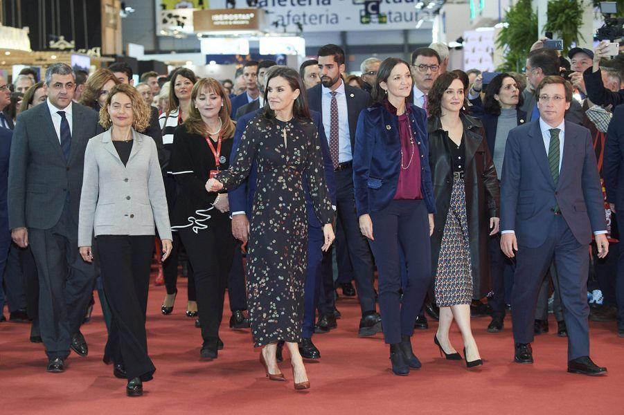 La reine Letizia d'Espagne inaugure la FITUR à Madrid, le 22 janvier 2020