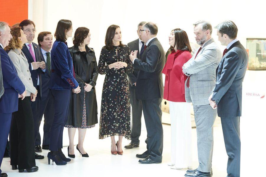 La reine Letizia d'Espagne, le 22 janvier 2020 à Madrid