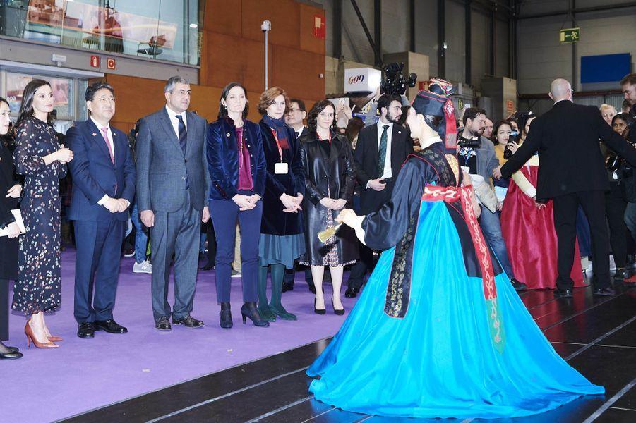 La reine Letizia d'Espagne à Madrid, le 22 janvier 2020