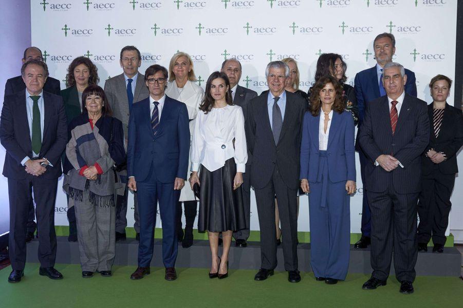 La reine Letizia d'Espagne à Madrid, le 4 février 2020