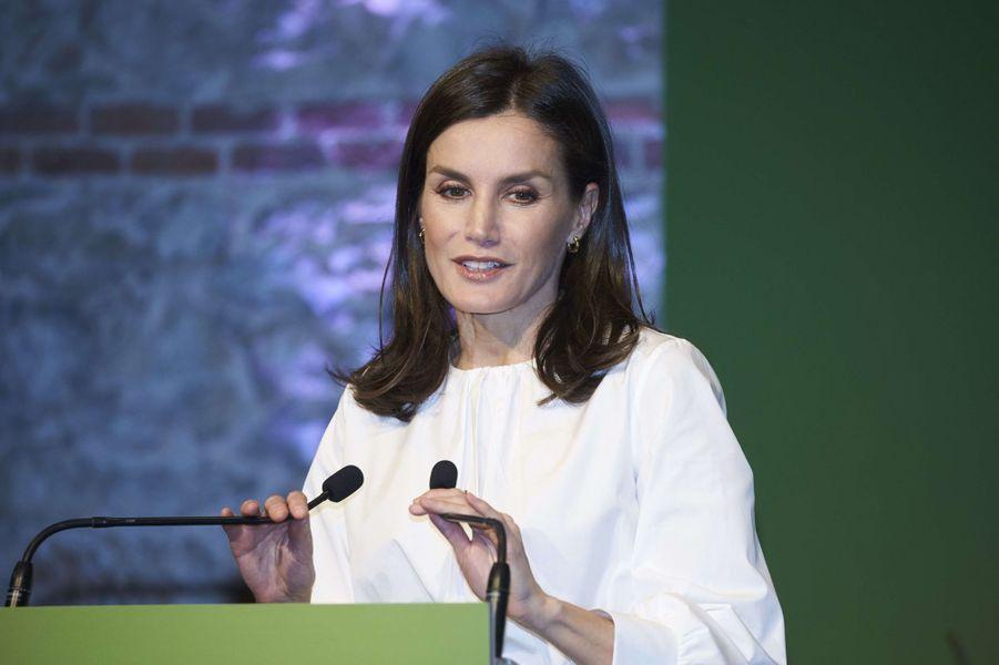 La reine Letizia d'Espagne, le 4 février 2020 à Madrid