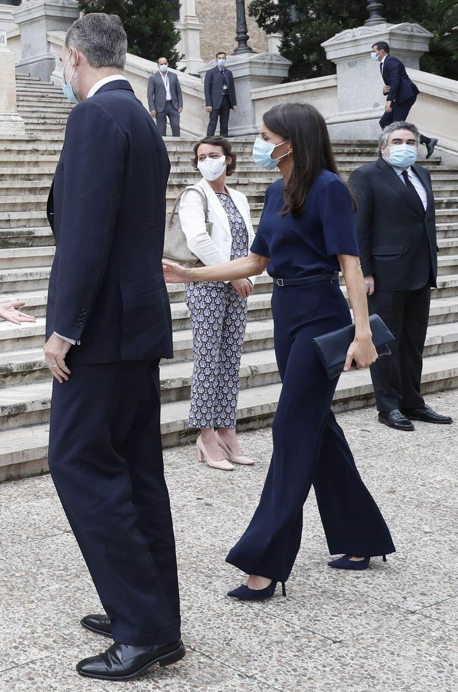 La reine Letizia d'Espagne à Madrid le 4 juin 2020