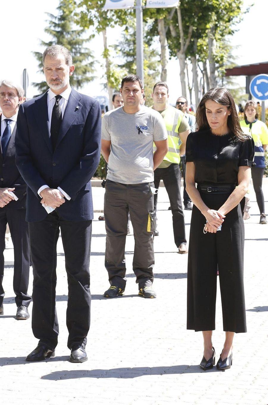 La reine Letizia d'Espagne le 5 juin 2020
