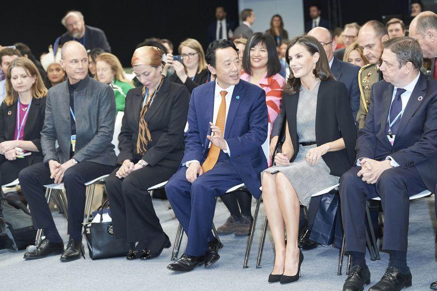 La reine Letizia d'Espagne à Madrid, le 11 décembre 2019