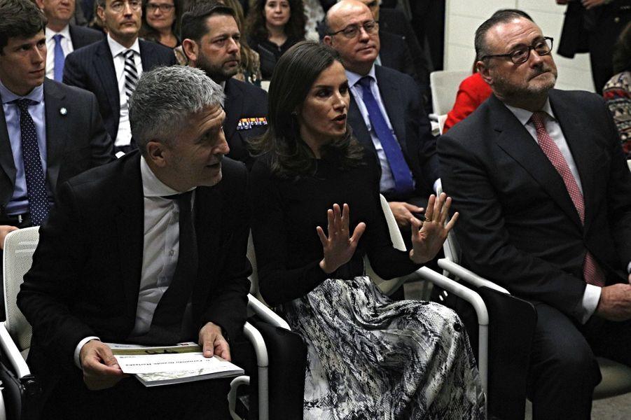 La reine Letizia d'Espagne à Madrid, le 12 décembre 2019