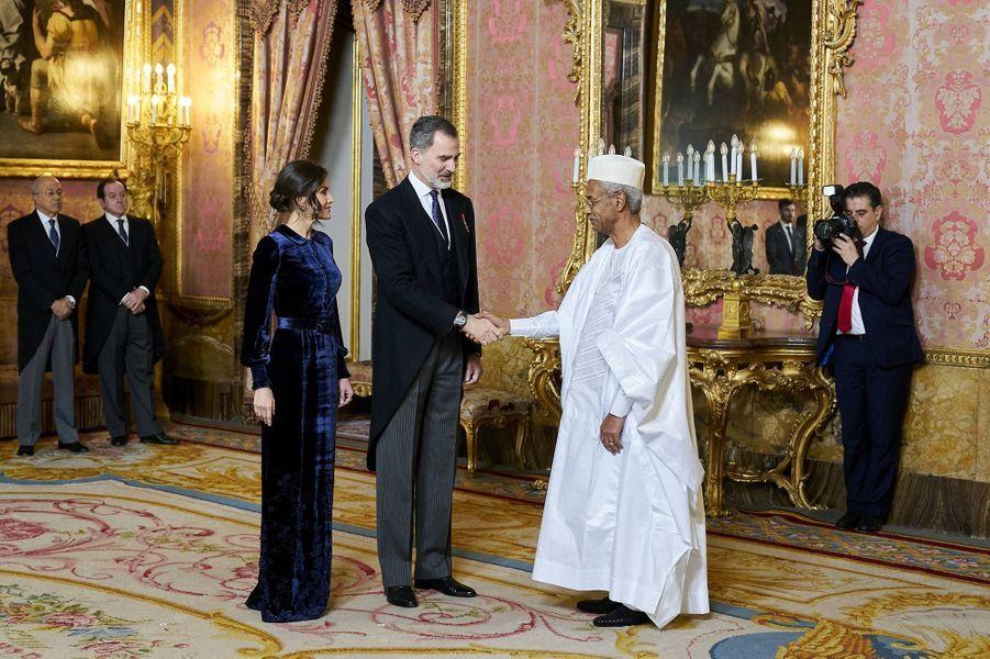 La reine Letizia et le roi Felipe VI d'Espagne à Madrid, le 5 février 2020