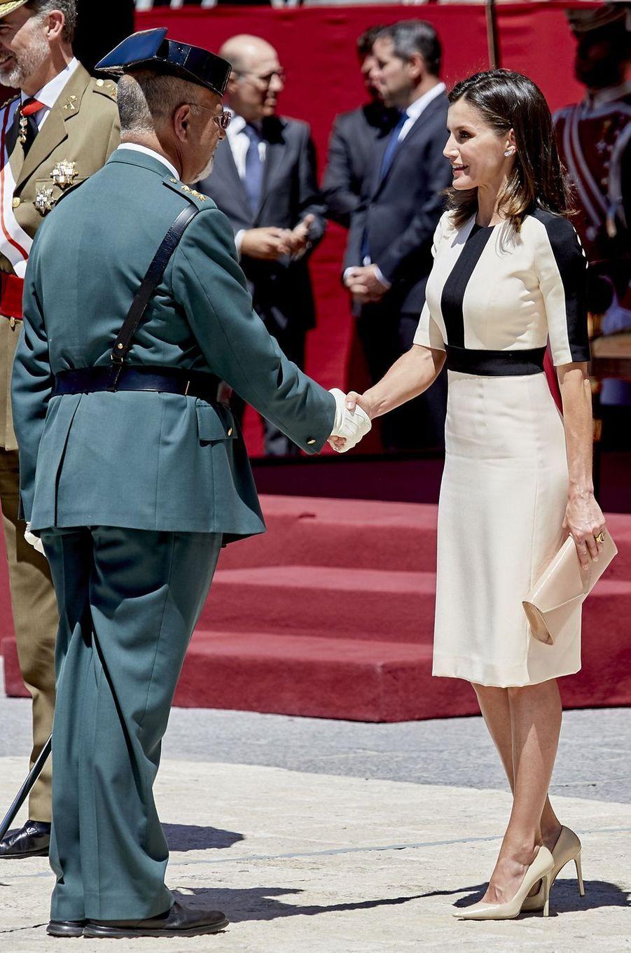 La reine Letizia d'Espagne à Madrid, le 13 mai 2019