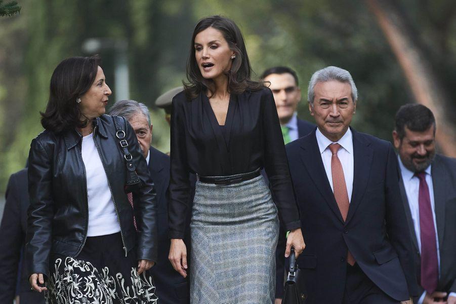 La reine Letizia d'Espagne à Madrid, le 30 octobre 2019