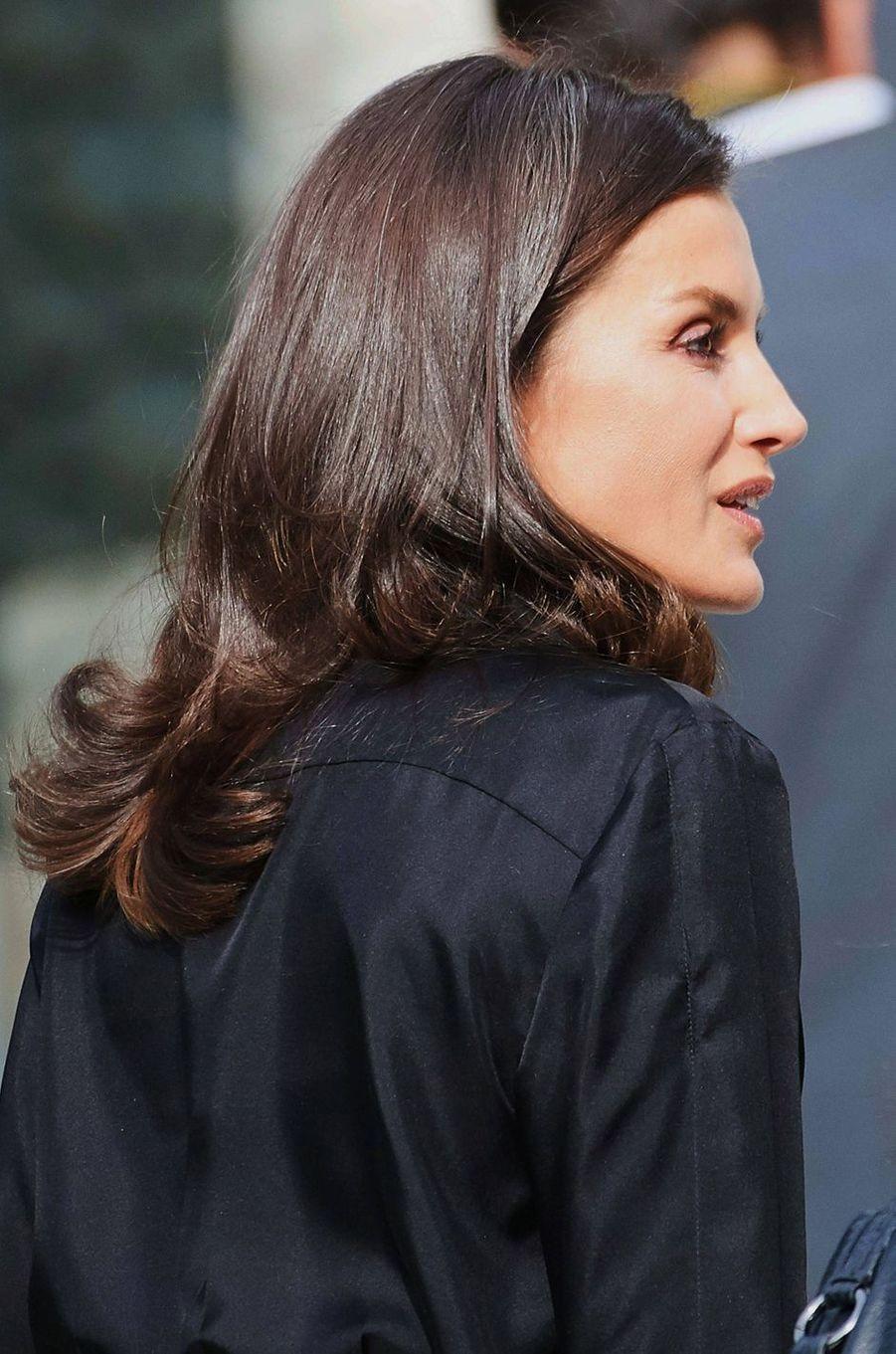 La reine Letizia d'Espagne, le 30 octobre 2019 à Madrid