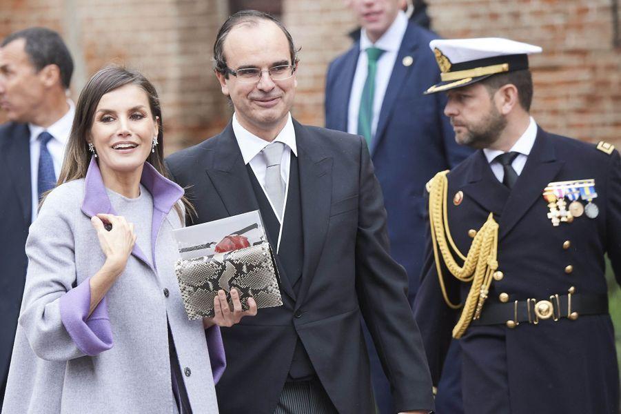 La reine Letizia d'Espagne à Alcalá de Henares, le 23 avril 2019