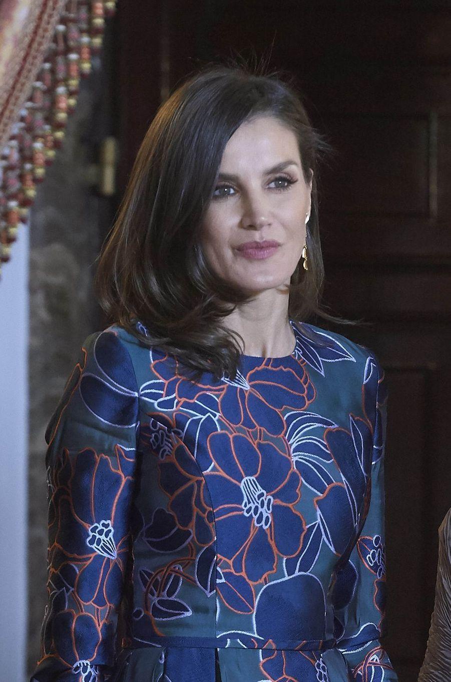 La reine Letizia d'Espagne à Madrid, le 24 avril 2019