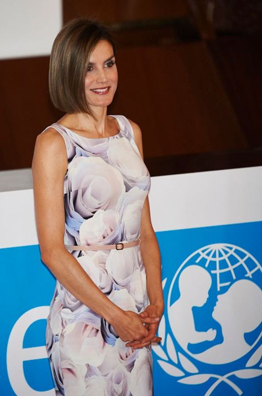 La reine Letizia d'Espagne à la remise des prix de l'Unicef à Madrid, le 23 juin 2015