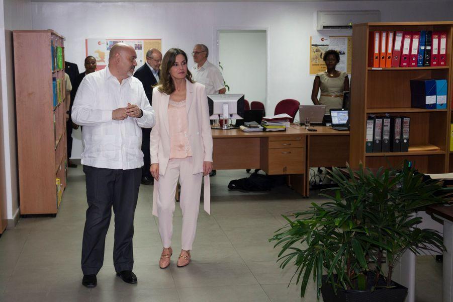La reine Letizia d'Espagne à Port-au-Prince, le 22 mai 2018