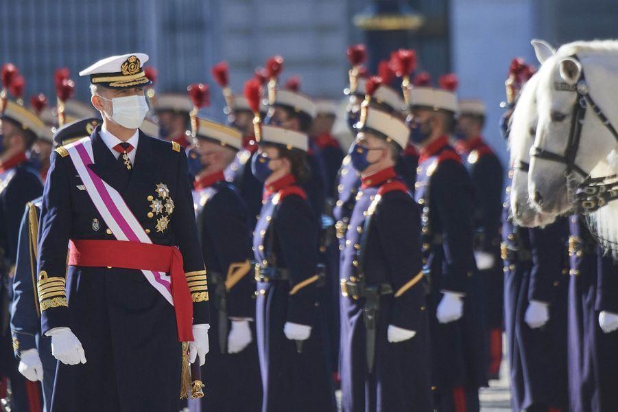 Le roi Felipe VI d'Espagne à Madrid, le 6 janvier 2021