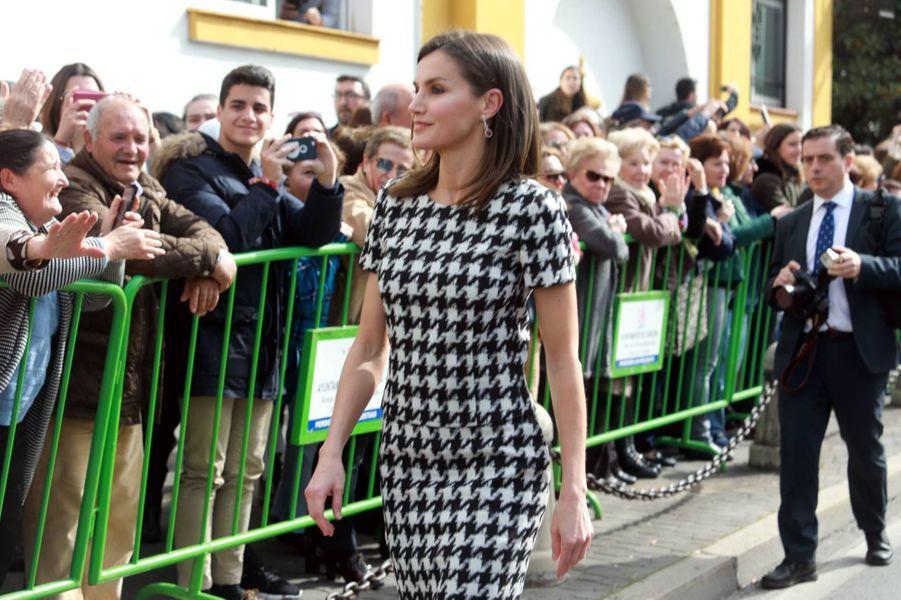 La reine Letizia d'Espagne, le 18 février 2019 à Cordoue