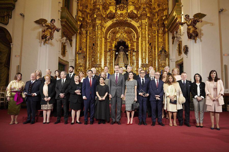 La reine Letizia et le roi Felipe VI d'Espagne à Cordoue, le 18 février 2019