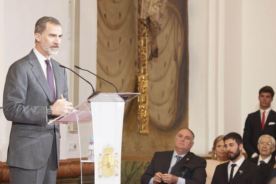 Le roi Felipe VI d'Espagne à Cordoue, le 18 février 2019