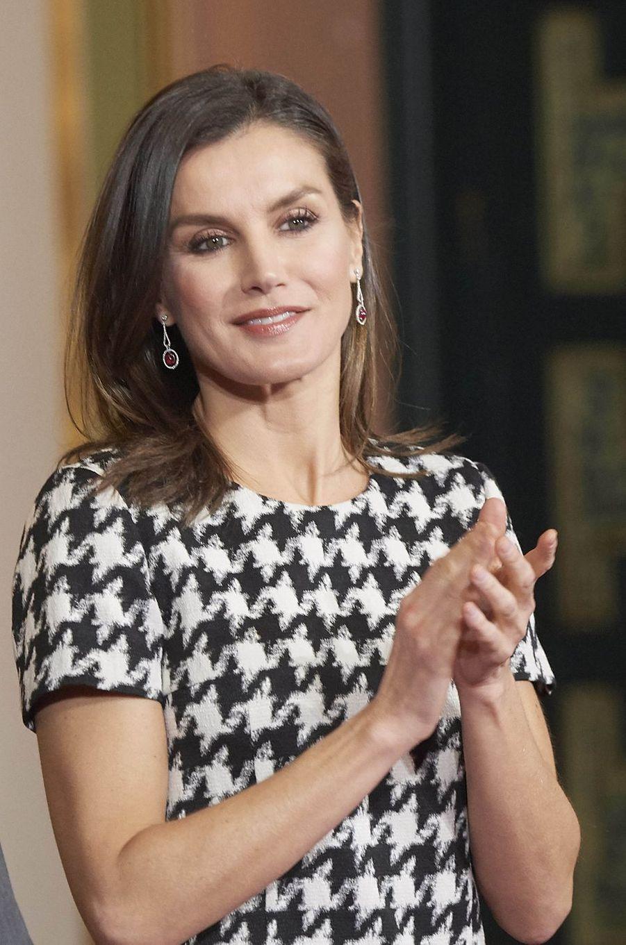 La reine Letizia d'Espagne à Cordoue, le 18 février 2019