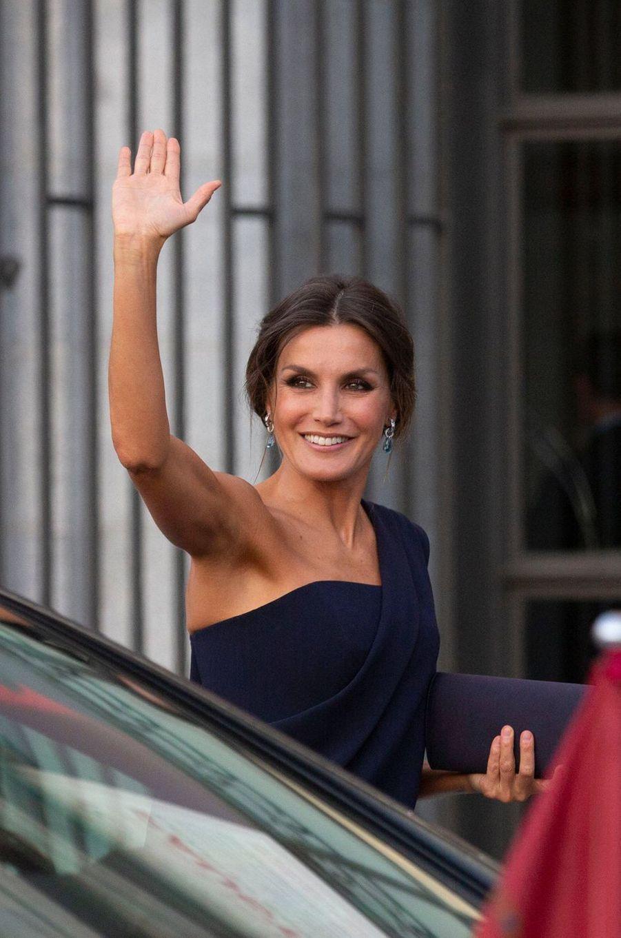 La reine Letizia d'Espagne à Madrid, le 19 septembre 2018
