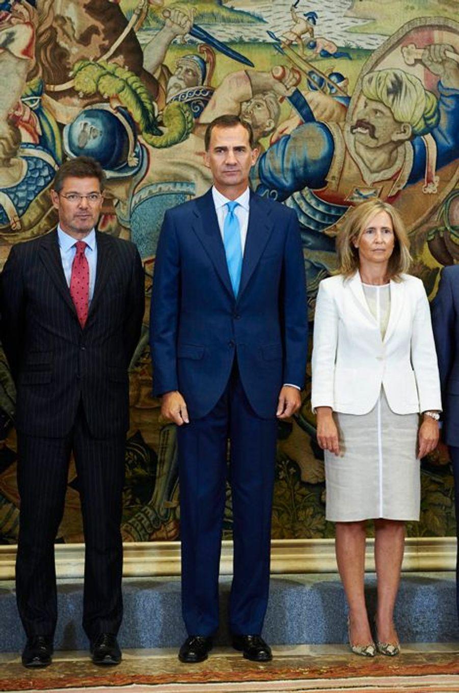 Le roi Felipe VI d'Espagne au palais de la Zarzuela à Madrid, le 3 septembre 2015