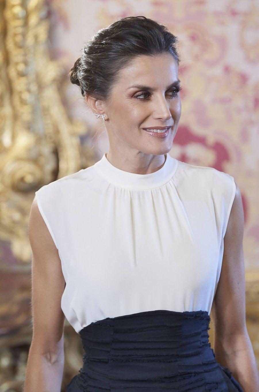 La reine Letizia d'Espagne à Madrid, le 2 décembre 2019