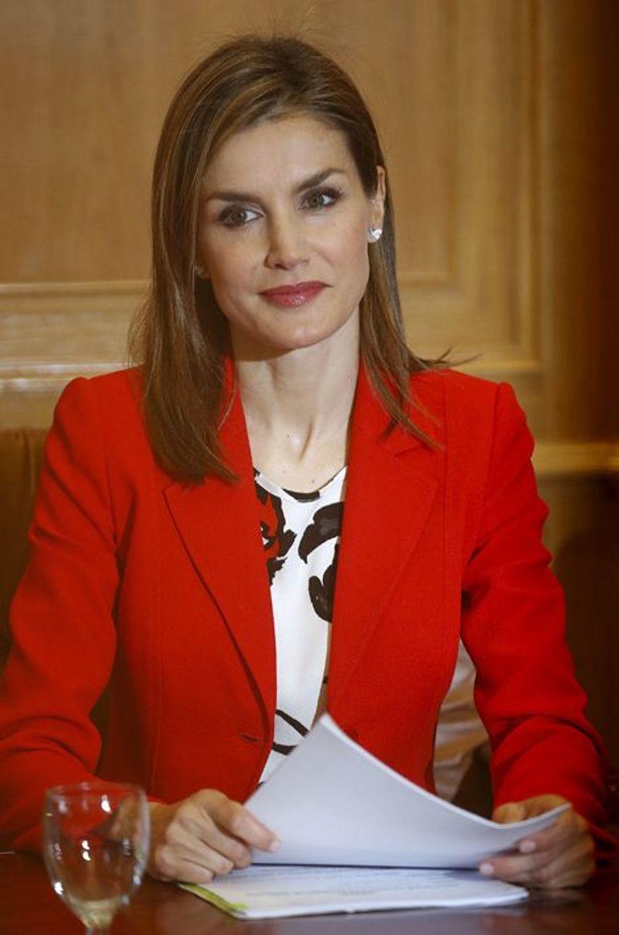 La reine Letizia d'Espagne à l'Académie d'artillerie de Segovia, le 13 avril 2015