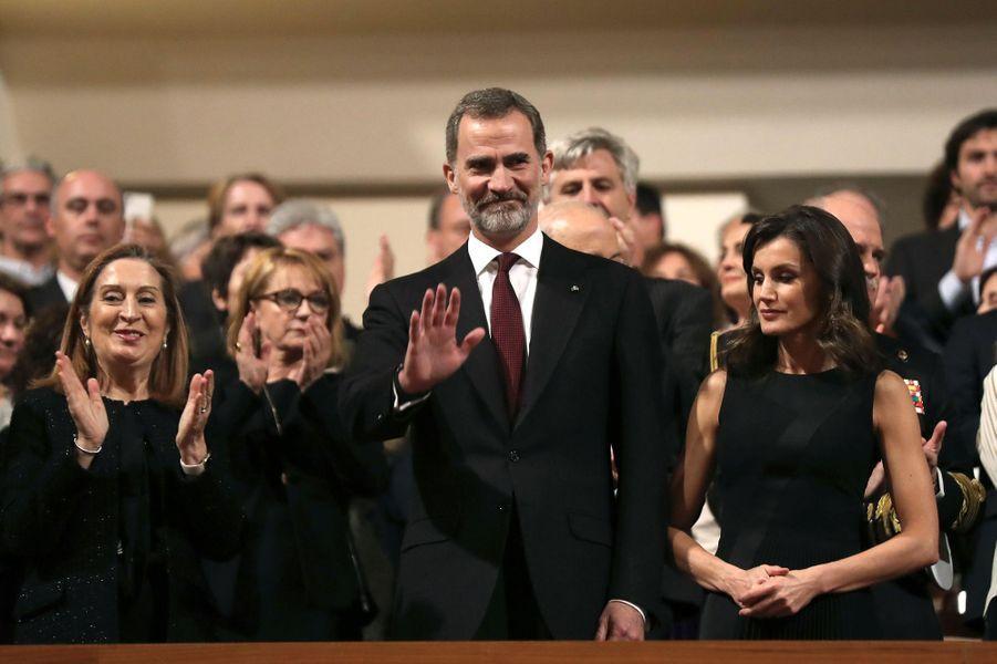 La reine Letizia et le roi Felipe VI d'Espagne à Madrid, le 7 mars 2019
