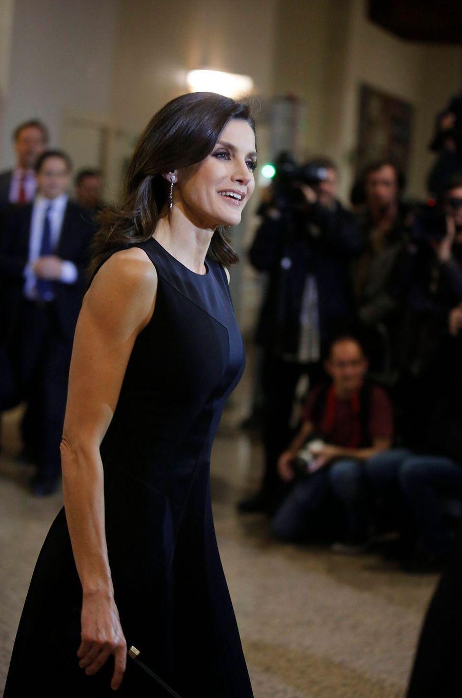 La reine Letizia d'Espagne à Madrid, le 7 mars 2019
