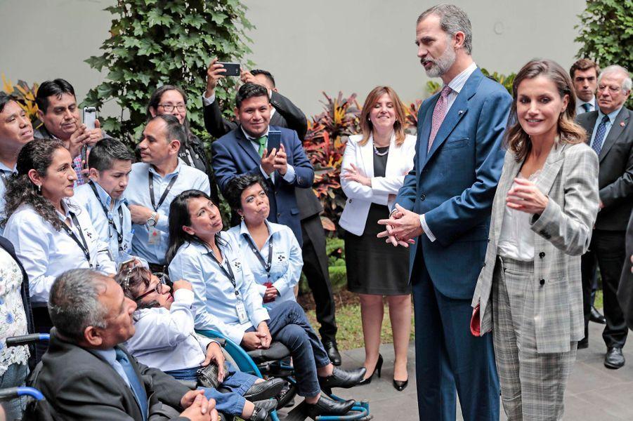 Le roi Felipe VI d'Espagne et la reine Letizia à Lima, le 13 novembre 2018