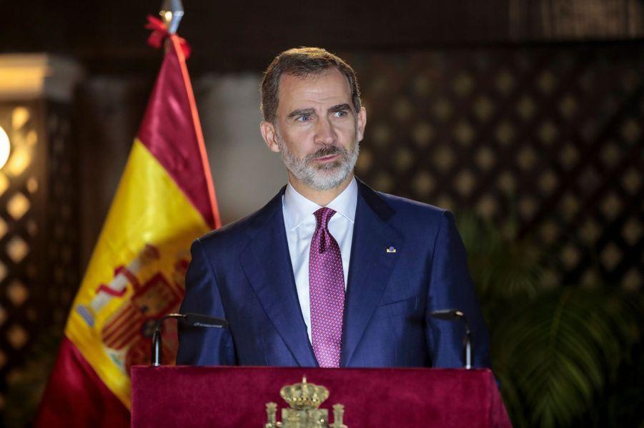Le roi Felipe VI d'Espagne à Lima, le 13 novembre 2018