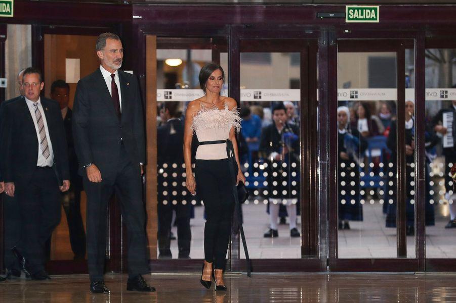 Le roi Felipe VI et la reine Letizia d'Espagne à Oviedo, le 17 octobre 2019