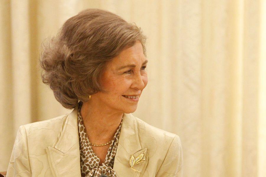 L'ex-reine Sofia d'Espagne au palais de la Zarzuela à Madrid, le 29 septembre 2015