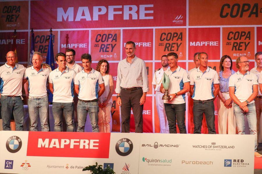 Le roi Felipe VI d'Espagne à la remise des prix de la Copa del Rey à Palma de Majorque, le 4 août 2018