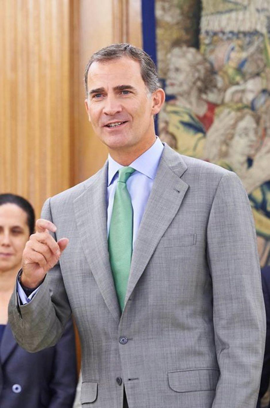 Le roi Felipe VI d'Espagne à Madrid, le 2 septembre 2015