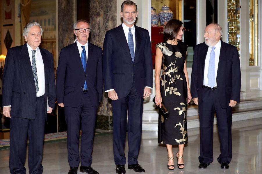 La reine Letizia et le roi Felipe VI d'Espagne, le 28 novembre 2019 à Madrid