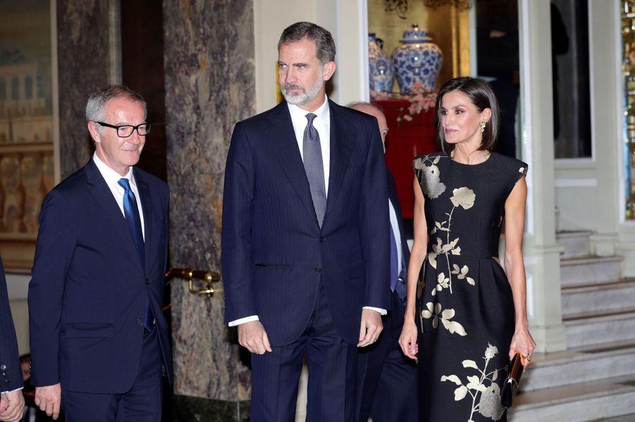 La reine Letizia et le roi Felipe VI d'Espagne à Madrid, le 28 novembre 2019