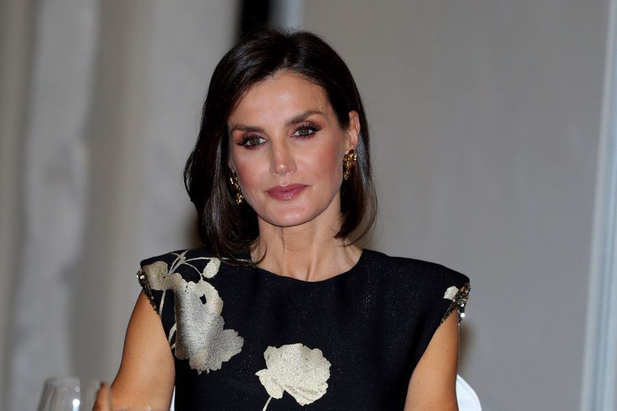 La reine Letizia d'Espagne à Madrid, le 28 novembre 2019