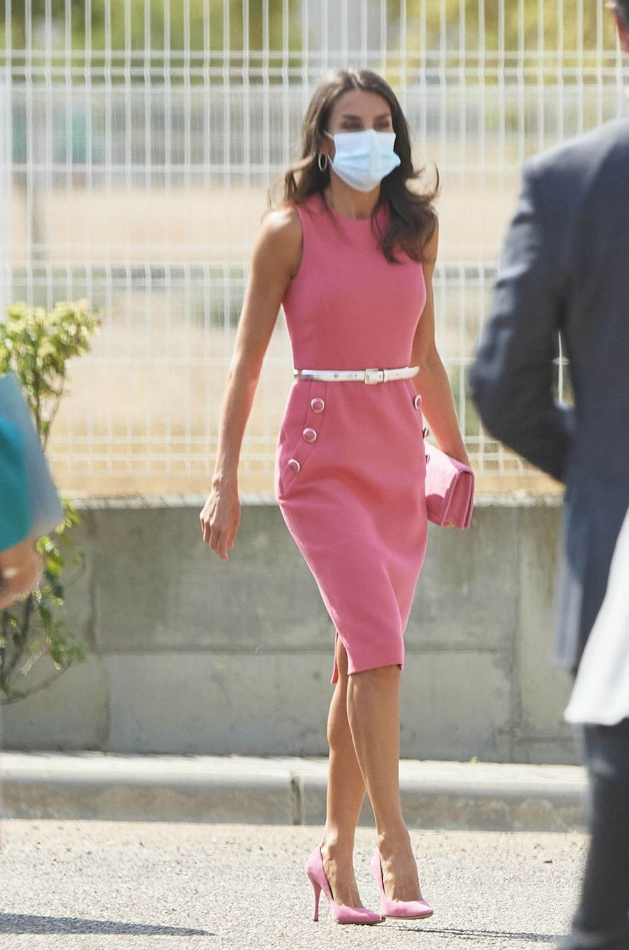 La reine Letizia d'Espagne à Villanueva de Gallego, le 16 septembre 2020