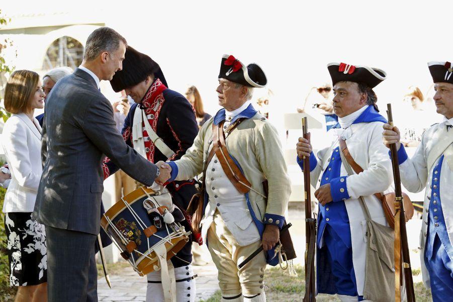 La reine Letizia et le roi Felipe VI d'Espagne à Mount Vernon, le 15 septembre 2015