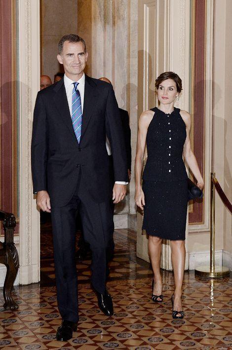 La reine Letizia et le roi Felipe VI d'Espagne au Capitole à Washington, le 15 septembre 2015