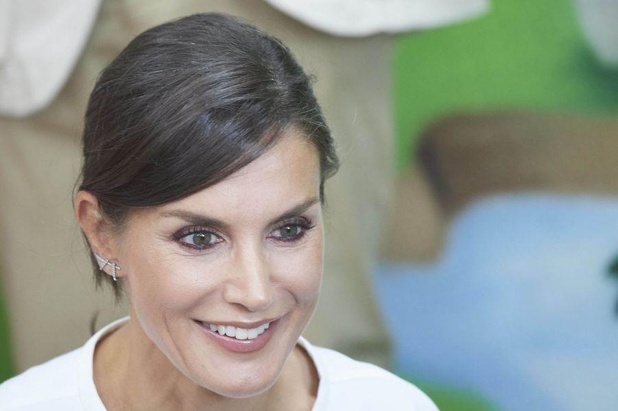 La reine Letizia d'Espagne à Torrejoncillo, le 17 septembre 2019