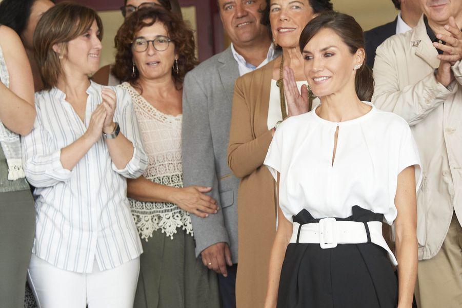La reine Letizia d'Espagne fêtée pour son anniversaire à Torrejoncillo, le 17 septembre 2019