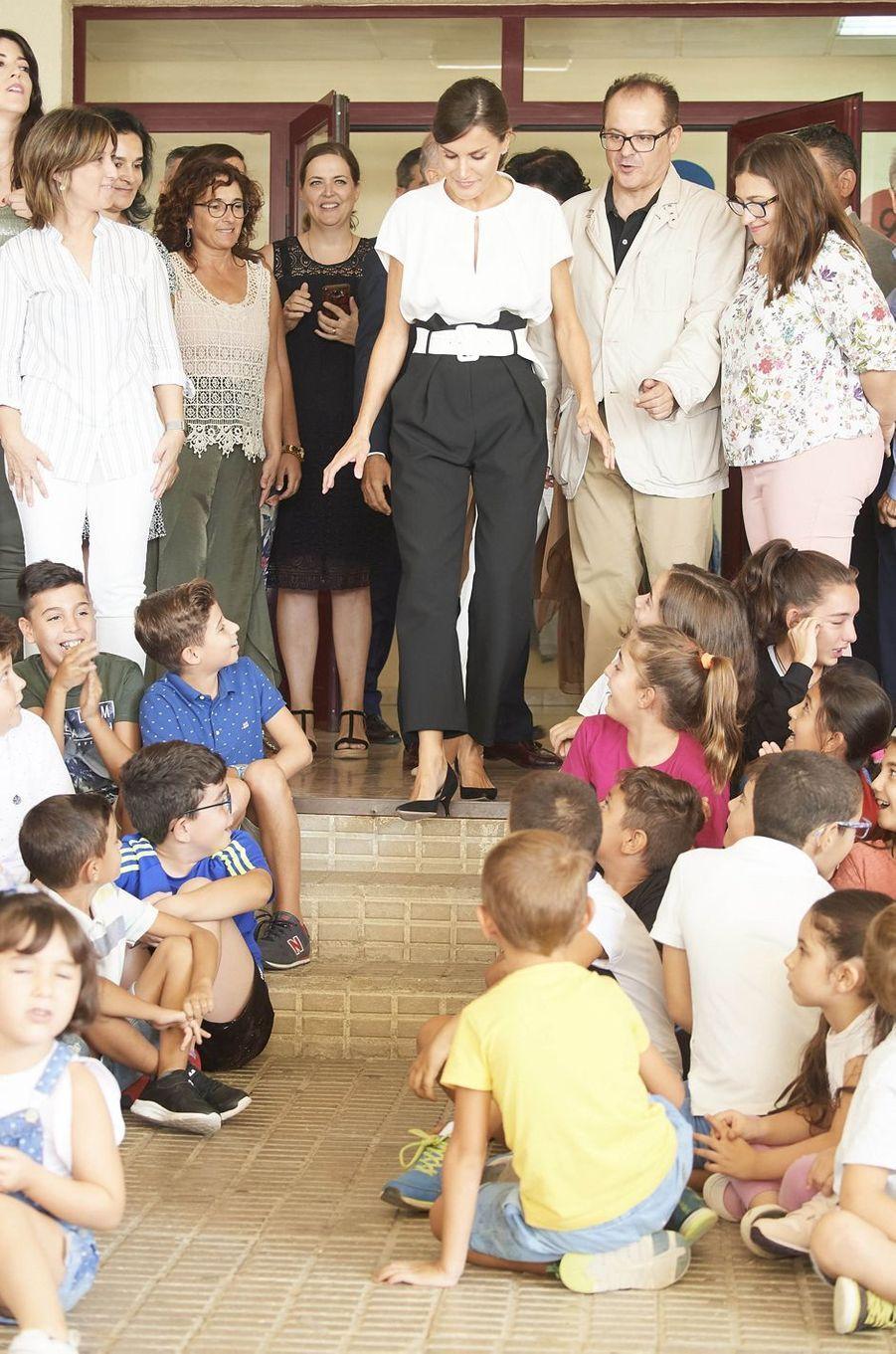 La reine Letizia d'Espagne, le 17 septembre 2019 à Torrejoncillo
