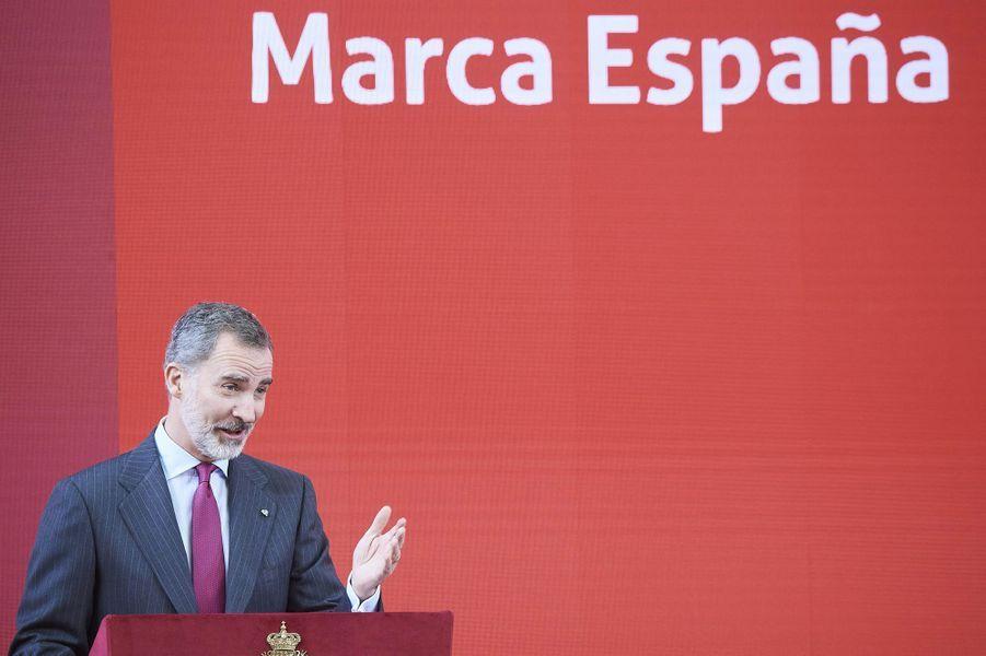 Le roi Felipe VI d'Espagne à Madrid, le 3 mars 2020