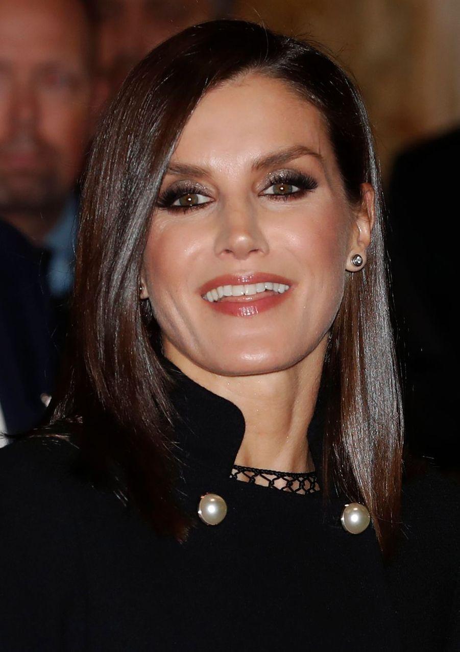 La reine Letizia d'Espagne à Madrid, le 3 décembre 2019